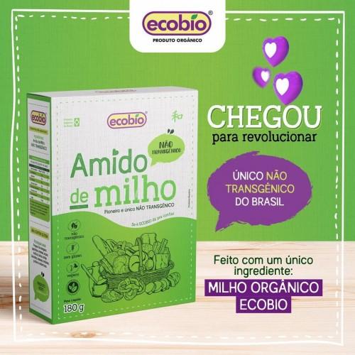 AMIDO DE MILHO Não Transgênico ORGÂNICO 180G ECOBIO