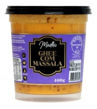 Manteiga Ghee 400g COM MASSALA Clarificada Madhu Bakery Sem gluten