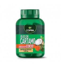 Óleo de Coco e Cártamo - 60 Cápsulas - 1000mg - Copra