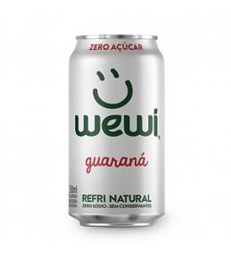 Refrigerante EM LATA Guaraná Natural e Saudável Zero açúcar - 350ML Wewi