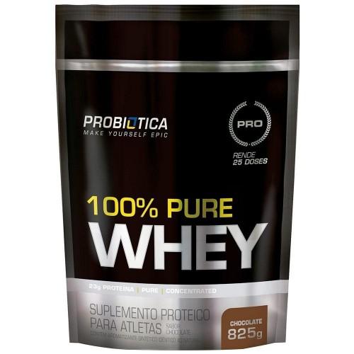 100% PURE WHEY 825G SABOR CHOCOLATE PROBIOTICA