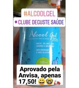 ALCOOL GEL 70% ANTISEPTICO VERDADEIRO REGULAMENTADO PELA ANVISA 500ML