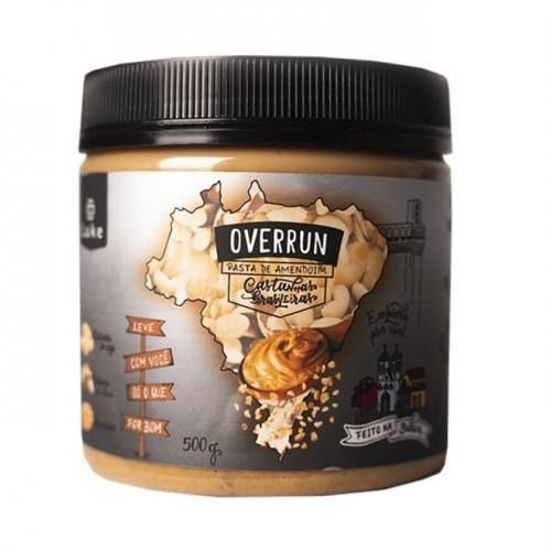 Pasta de Amendoim Castanhas Brasileiras Zero Açúcar, Lactose e Glúten 500g - Overrun