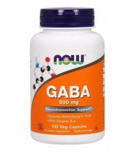 Gaba 500mg EM 100 CAPSULAS VEGETAIS NEUROTRANSMISSOR Now Foods