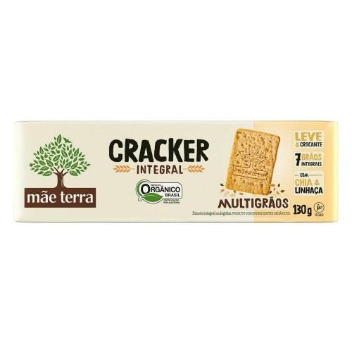 Biscoito Cracker Orgânico INTEGRAL MULTIGRÃOS - 130g - Mãe Terra