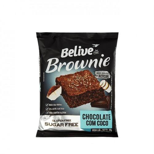 Brownie Chocolate Com Coco Sem Glúten Sem Açúcar 40g - Belive