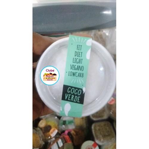 Gelato de COCO VERDE 90G LowCarb - SEM LACTOSE - Sem Açúcar - Gula Fit Food