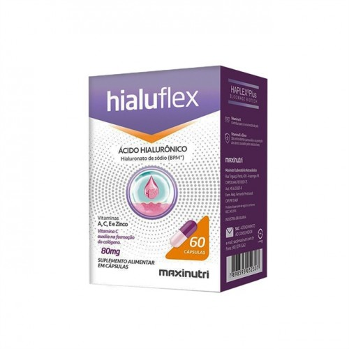 Hialuflex Acido Hialurônico BPM 80mg 60 Cápsulas - Maxinutri