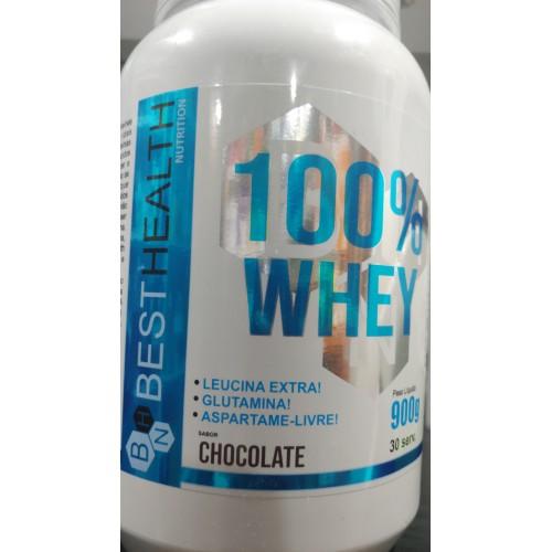 WHEY 100% PROTEINA 900G BEST HEALTH NUTRITION SABOR CHOCOLATE