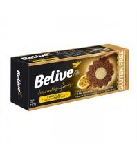 Biscoitos Finos Sabor Chocolate Com Maracujá Sem Ovos Sem Leite 110g - Belive