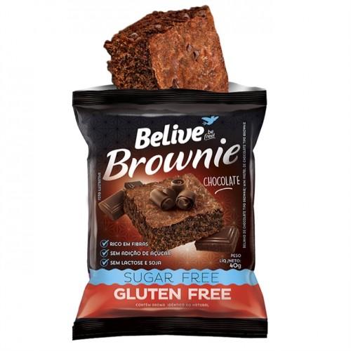 Brownie Chocolate Sem Glúten Sem Açúcar 40g - Belive