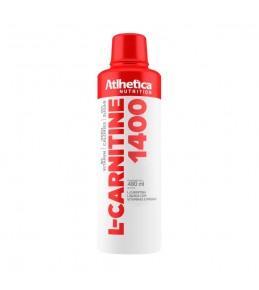 L-Carnitine 1400 + VITAMINA B5 480ml - Atlhetica Nutrition ZERO CALORIAS SABOR LIMÃO