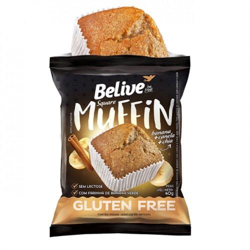 Muffin Banana Canela e Chia Sem Glúten Sem Lactose 40g - Belive
