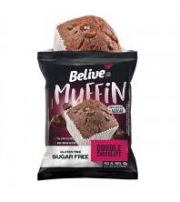 Muffin Duplo Chocolate Sem Glúten Zero Açúcar 40g - Belive