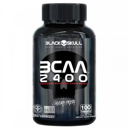 BCAA 2400MG 100 TABLETES BLACK SKULL
