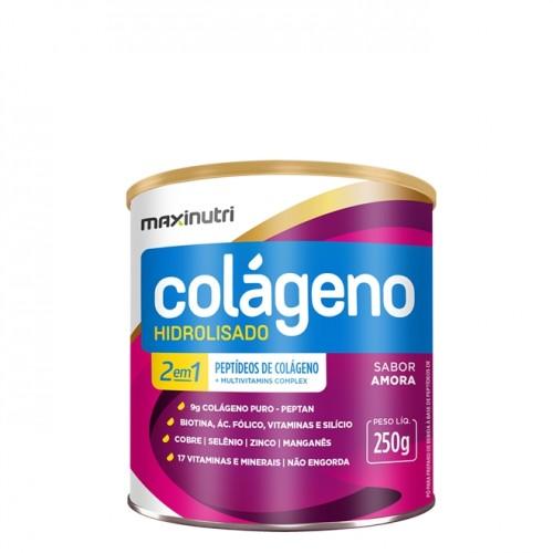 Colágeno Hidrolisado 2 EM 1 SABOR Amora 250g - Maxinutri