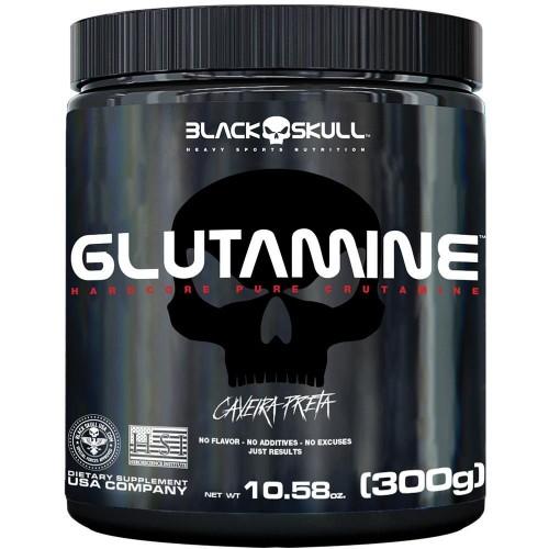GLUTAMINE 300G CAVEIRA PRETA BLACK SKULL