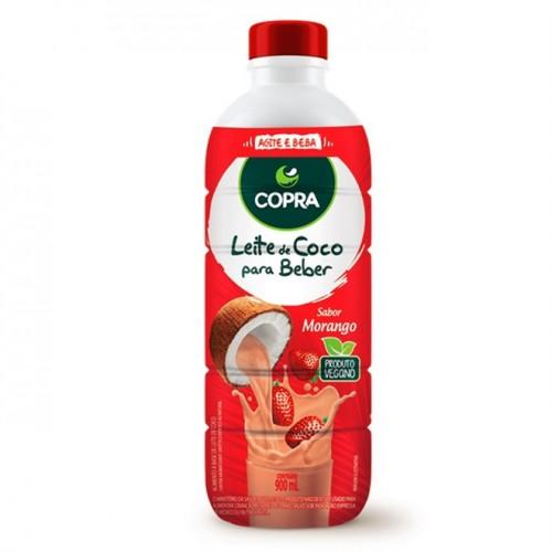 Leite de Coco Pronto para Beber Morango 900ml - Copra