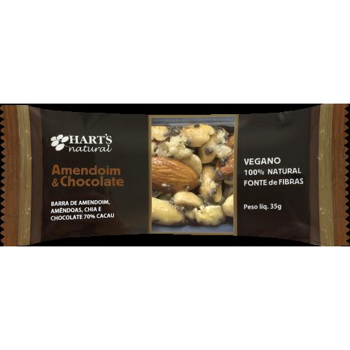 Barra Nuts Amendoim e Chocolate 70% cacau VEGANO Hart's Natural