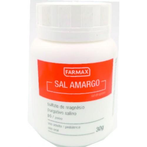 SAL AMARGO ( SULFATO DE MAGNÉSIO OU SAL DE EPSOM ) 30G FARMAX