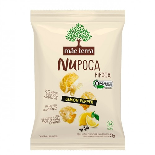 Pipoca Orgânica Nupoca Sabor Lemon Pepper 23g - Mãe Terra