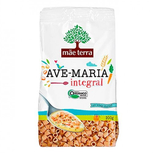 Massa para Sopa Integral Orgânico Tipo Ave Maria - 200g - Mãe Terra