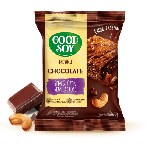 Brownie GoodSoy Chocolate 40g