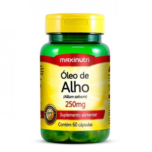 Óleo de Alho 250mg - 60 Cápsulas - Maxinutri