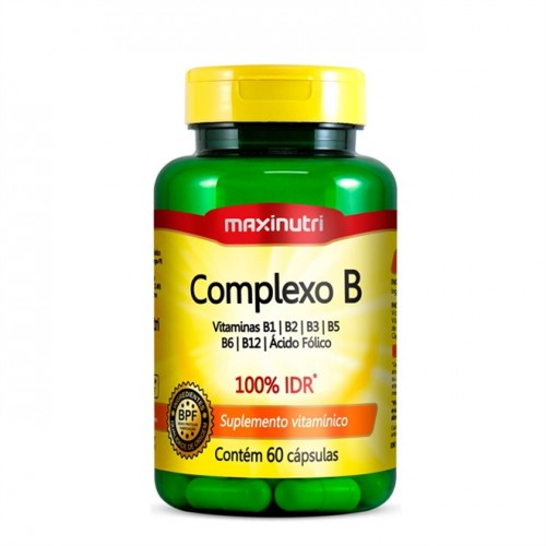 Complexo B 60 Cápsulas 470MG - Maxinutri