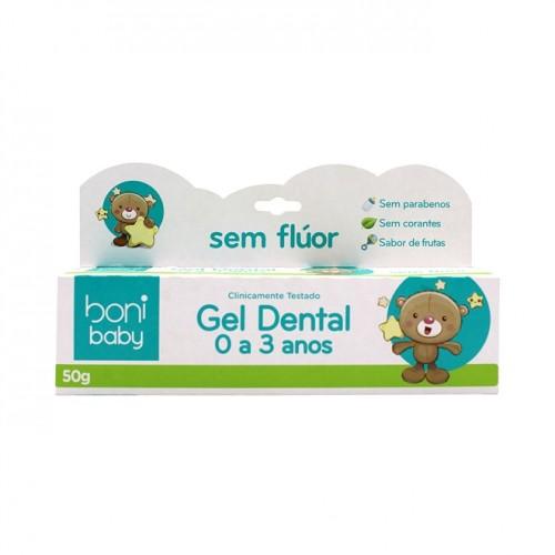 Creme Dental Sem Flúor Para Bebê 0 a 3 Anos 50g - Boni Baby