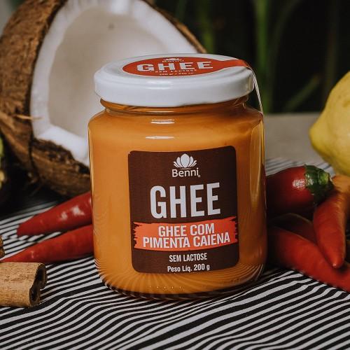 Manteiga PURIFICADA GHEE COM PIMENTA CAIENA – 200g BENNI ALIMENTOS