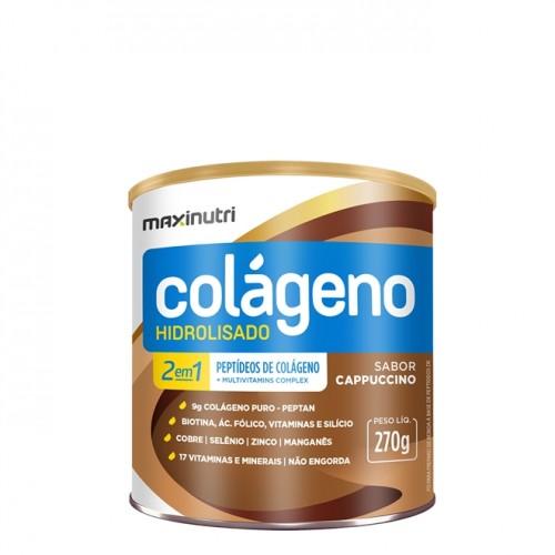 Colágeno Hidrolisado Cappuccino 270g - Maxinutri