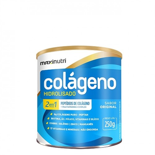 Colágeno Hidrolisado Natural Sabor Original 250g - Maxinutri