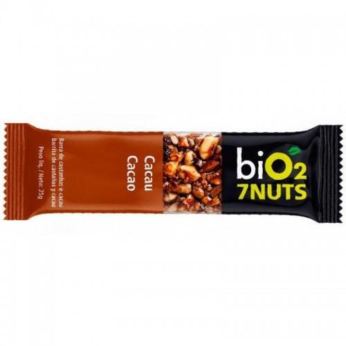 Barra De Castanhas COM CACAU 7 Nuts 25g BiO2