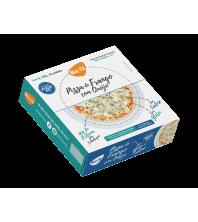 Pizza de FRANGO COM QUEIJO SEM GLUTEN ZERO LACTOSE com 40g Proteina 2 unidades 250g LIKE FIT