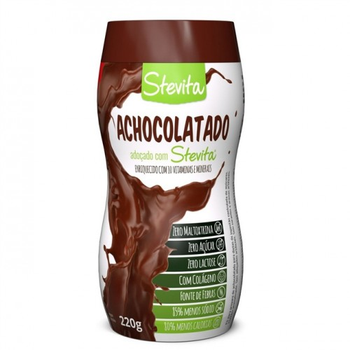 Achocolatado Diet Em Pó Com Stévia 220g - Stevita