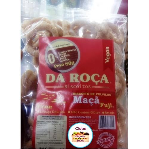 Biscoito / BOLACHA de Polvilho vegano ( AVOADOR ) COM MACÃ FUJI 80g - DA ROCA