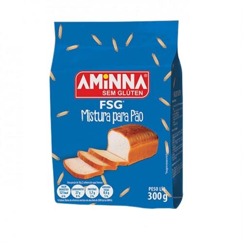 FSG Mistura Para PÃO Sem Gluten 300g - Aminna