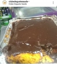 BOLO DE CENOURA COM ganache de chocolate 100% SEM GLUTÉN, SEM LACTOSE E SEM AÇÚCAR
