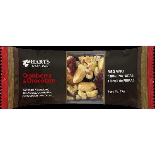 Barra de Amendoim, Amêndoas, Cranberry e Chocolate 70% Cacau Hart's Natural