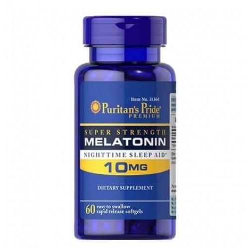 Melatonina PURITAN'S PRIDE 10MG 60 cápsulas