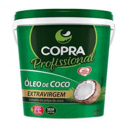 BALDE DE ÓLEO DE COCO EXTRA VIRGEM COPRA - 3,2L