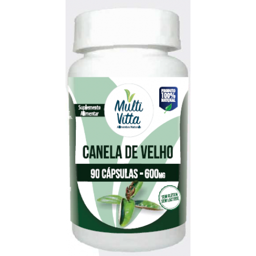 CANELA DE VELHO EM 90 CAPSULAS 600MG MULTIVITTA ( MICONIA ALBICANS )