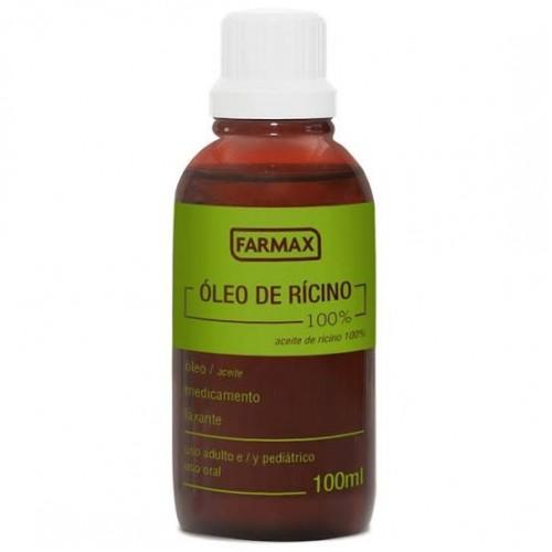 Óleo de rícino ( mamona ) farmax 100ml