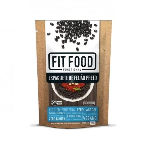 Espaguete de Feijão Preto Orgânico e Vegano 200g Low Carb - FIT FOOD
