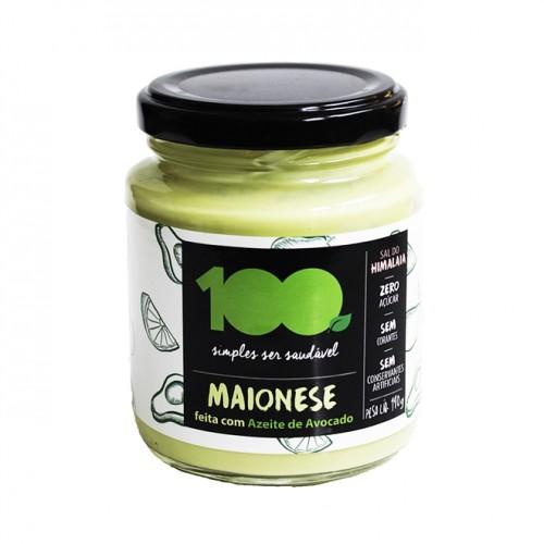 Maionese Saudável Azeite de Avocado - Sem Sódio, Corantes e Conservantes 190g - 100 Foods