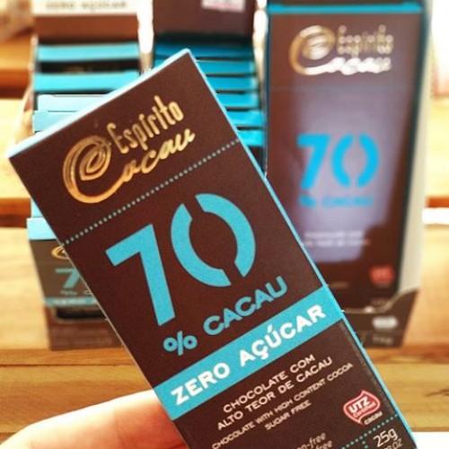 CHOCOLATE 70% ZERO 25G ESPIRITO CACAU