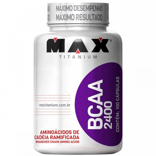 BCAA MAX TITANIUM 2400MG 100 CAPSÚLAS