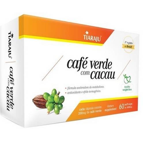CAFÉ VERDE C/ CACAU 60 CÁPSULAS 1000MG