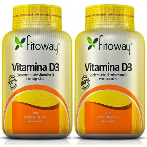 Vitamina D3 fitoway 60 capsulas 200UI